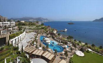 Sianji well being resort hotel kuş bakışı