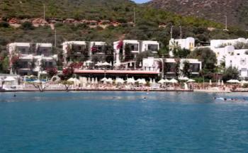 Sina beach torba hotel dıştan görünüm