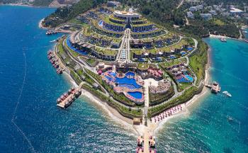 The bodrum by paramount hotel resorts üstten görünüş